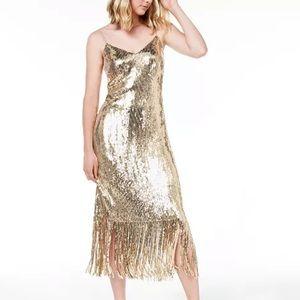 Rachel Roy NWT gold shimmer dress